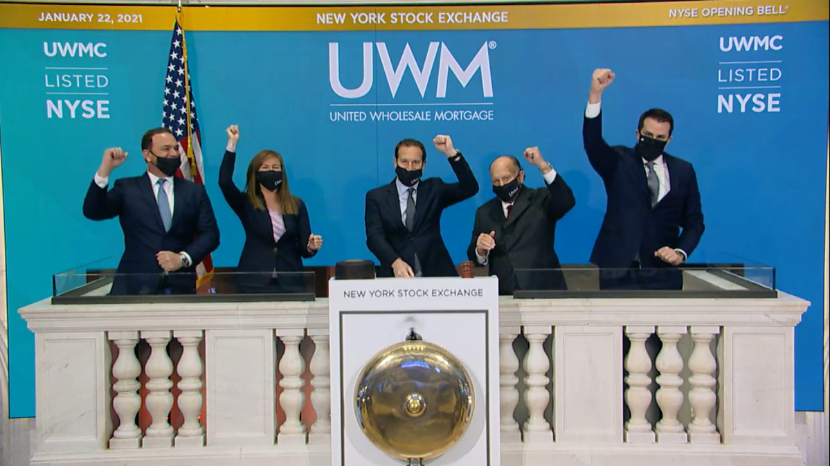 UWM goes public on the NYSE